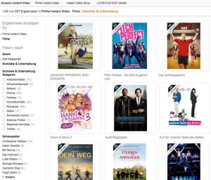 Komödien bei Amazon Instant Prime Video