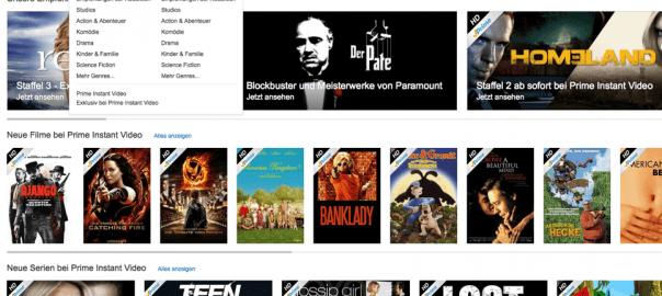 Amazon Prime Instant Video - Startseite