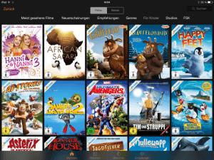 iPad App von Prime Video