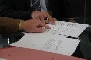 Eine Vertragsunterzeichnung